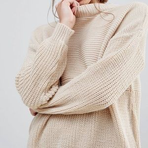 Daisy Street Relaxed Fit Beige Sweater